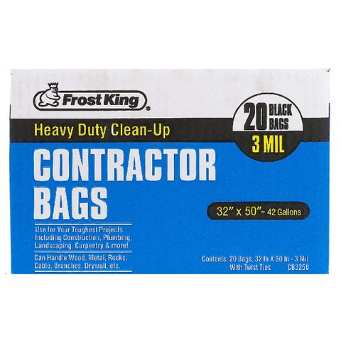 Heavy Duty Contractor Clean Up Bags Frost King