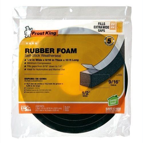 Rubber Foam Weatherseal Frost King 174 Weatherization Products