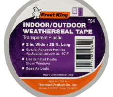 Clear Plastic Weatherseal Tape  Product Image