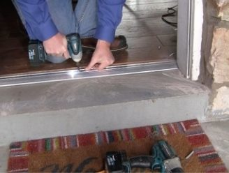 Exterior door threshold types frost king weatherization products for How to install a threshold for an exterior door