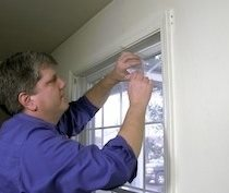 Insulate Windows with Plastic Sheeting by Frost King Tip Image