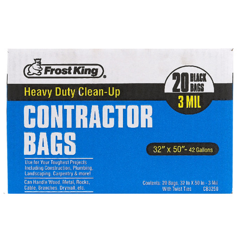Heavy Duty Contractor Clean-up Bags