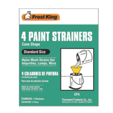 Cone Shape Paint Strainers