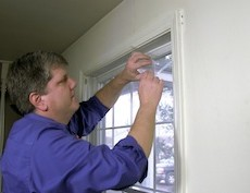 Insulate Windows with Plastic Sheeting by Frost King
